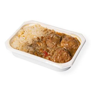 Comida casera - Albondigas con arroz
