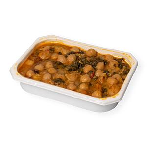 Comida casera - Garbanzos con espinacas