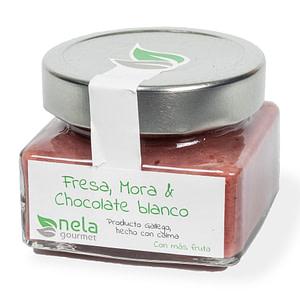 Mermelada Artesanal - Mermelada Nela, fresa, mora y chocolate blanco